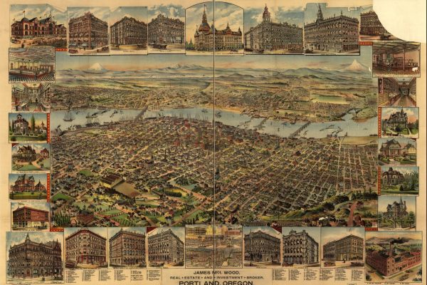 A map of Portland, Oregon in 1890.